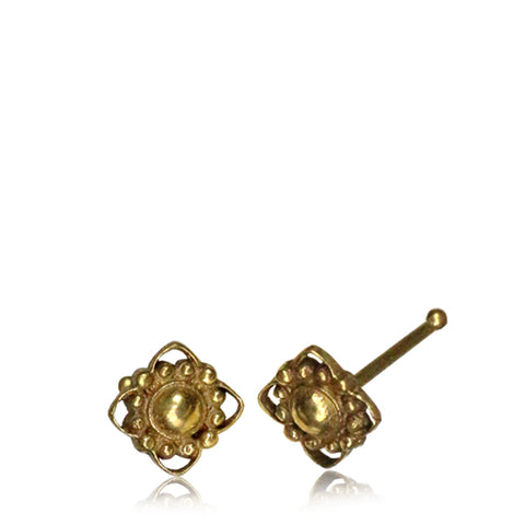 Premium Brass Flower Nose Bone