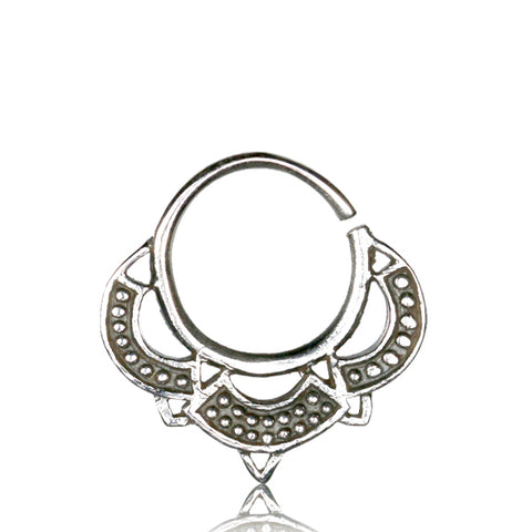 Premium Silver Tribal Septum