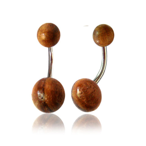 Teak Wood Belly Ring