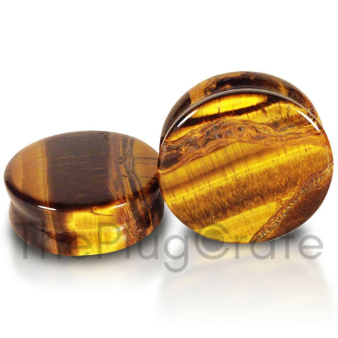 Tigers Eye Stone Premium Plugs