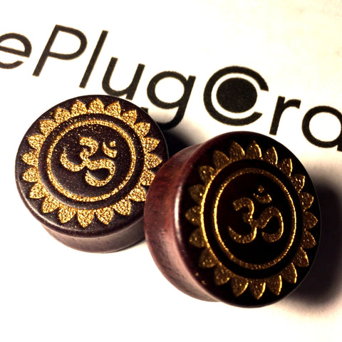 *CLEARANCE* Engraved Ohm Symbol on Sono Wood - 25mm/1""
