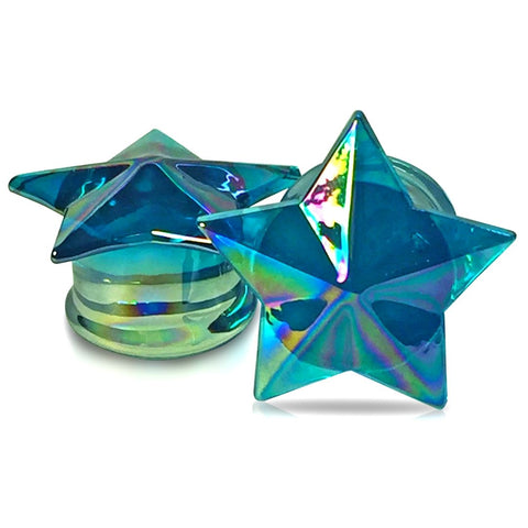 Premium Pyrex Glass Starfish Plugs