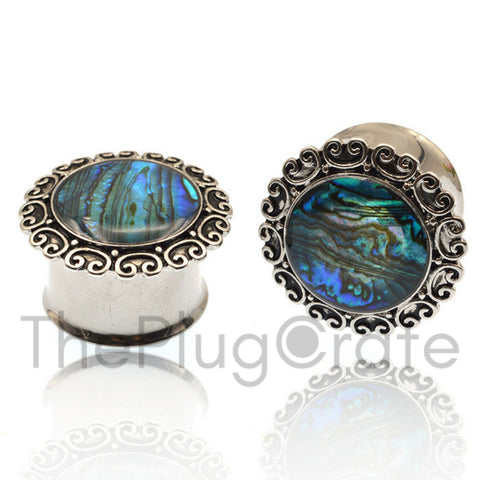 Antique Shimmer Steel Plugs