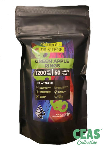 Green Apple Rings - 1200mg!