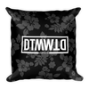 Dark Floral Square Pillow