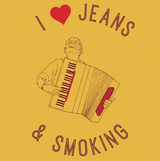 I love jeans and smoking funny tshirt