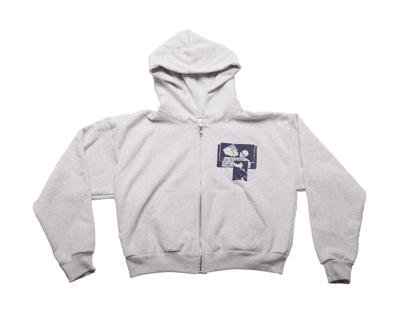 Upsetter Shrunken Zip Up Hoodie