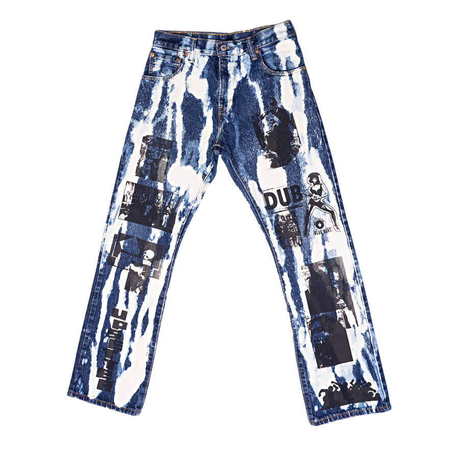 Hand Printed Upsetter Jeans / SOLD OUT