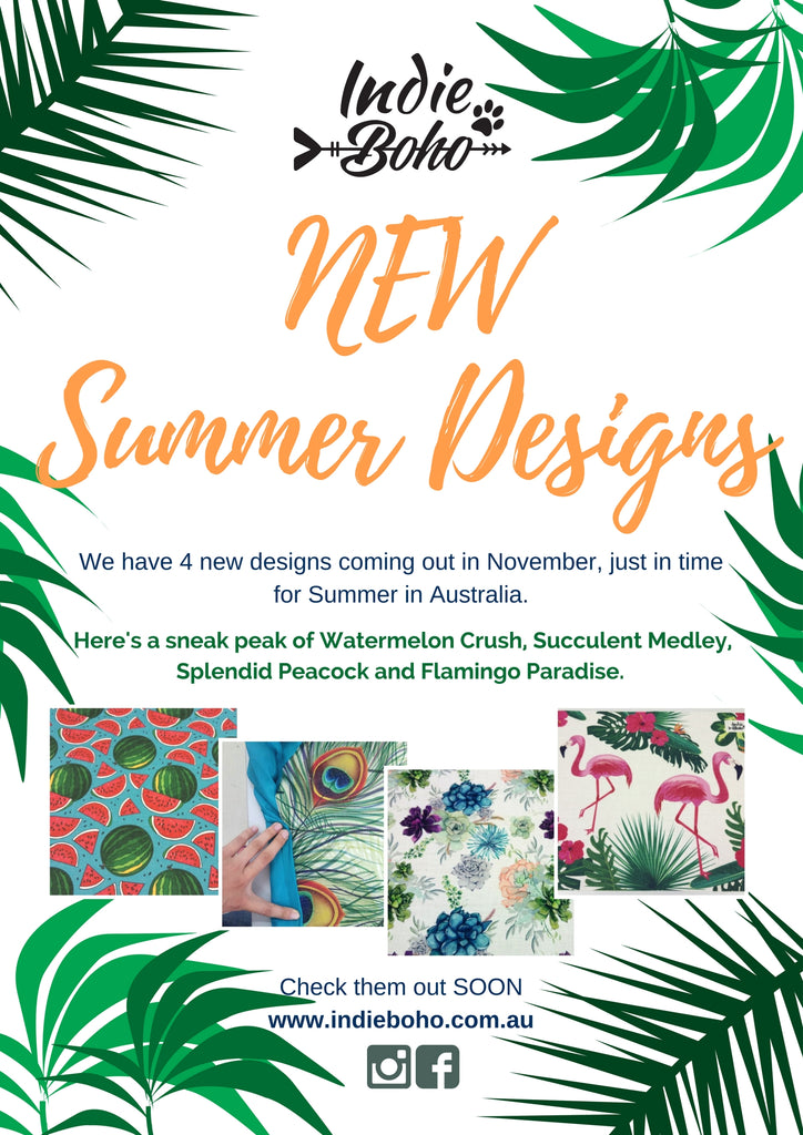 4 New Summer Designs Will Be Released Next Month!