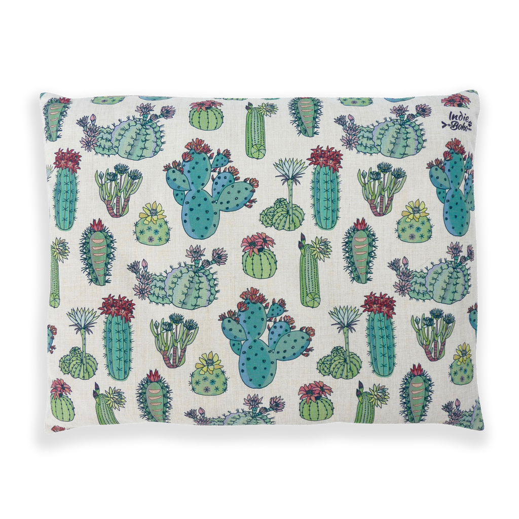 Extra Large Dog Bed - Cactus Design