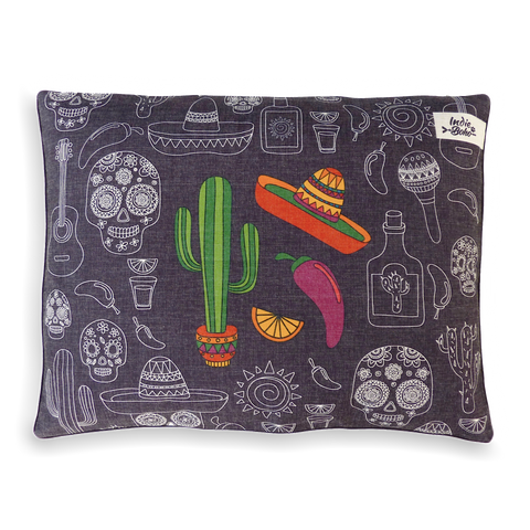 Mexican Skulls – EXTRA LARGE Bed  (Out of Stock. Available as an Eco Bed)