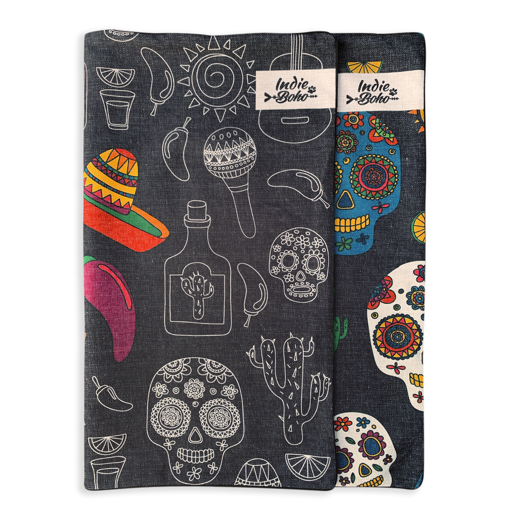 Additional Bed Cover - Mexican Skulls