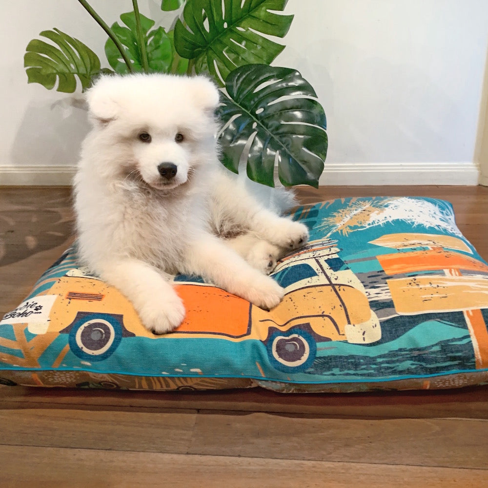 Indie ECO Pet Bed - Byron Surf