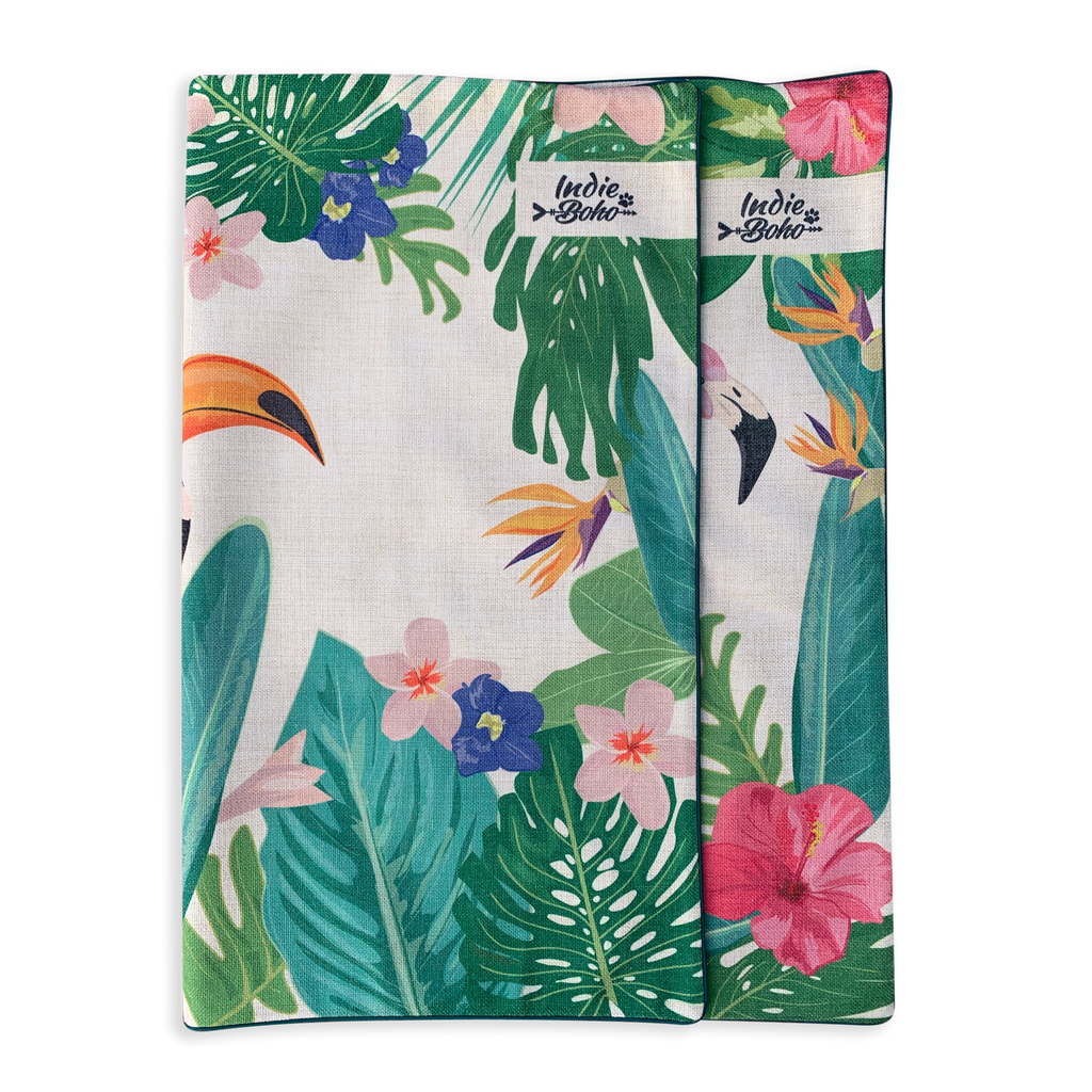 Additional Bed Cover - Flamingo Toucan Paradise