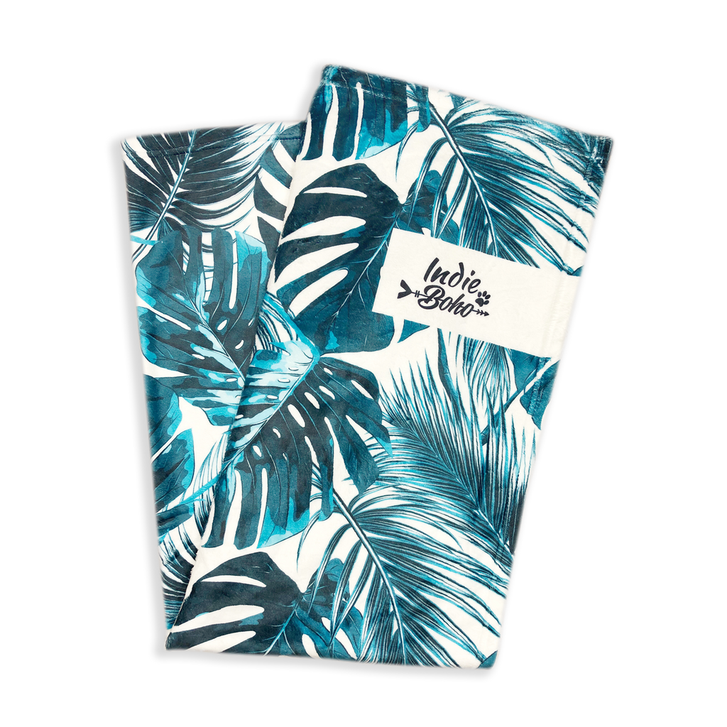 Tropical Leaves - Designer Pet Blanket
