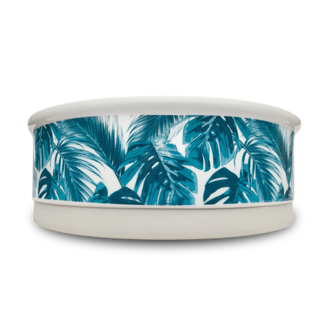 Tropical Leaves Designer Dog Bowl Set