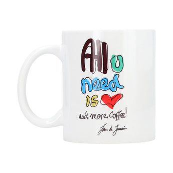 Taza de cerámica ¨All you need is Love and more coffee¨