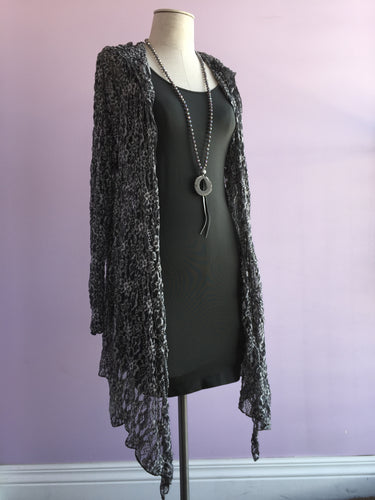 Hooded Lace Cardigan