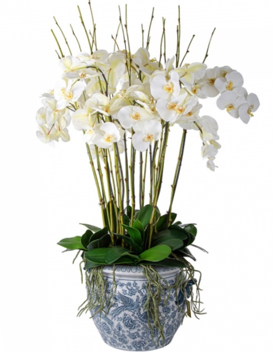 White Orchid Aviary Planter 100cm