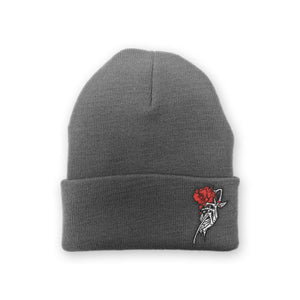 "Enjoy Death ""Skeleton Rose"" Beanie"