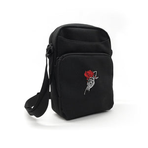 "Enjoy Death ""Skeleton Rose"" Shoulder Bag"