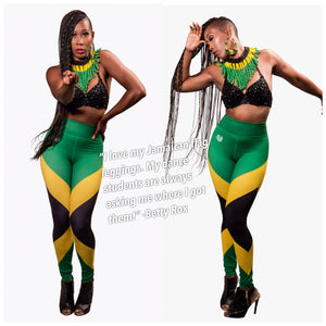 Jamaica gear Jamaica leggings Caribbean apparel Jamaica flag leggings