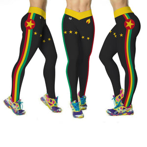 Grenada Flag Printed Leggings | Island Printed Leggings Caribbean Clothing