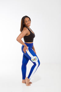U.S. Virgin Islands Flag Printed Leggings | Island Printed Leggings Caribbean Clothing