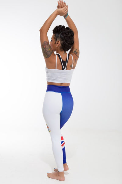 Cayman Islands Flag Designer Leggings | Island Printed Leggings Caribbean Apparel