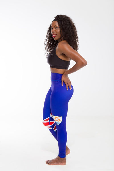 Anguilla Flag Print Leggings | Island Printed Leggings Caribbean Fashion