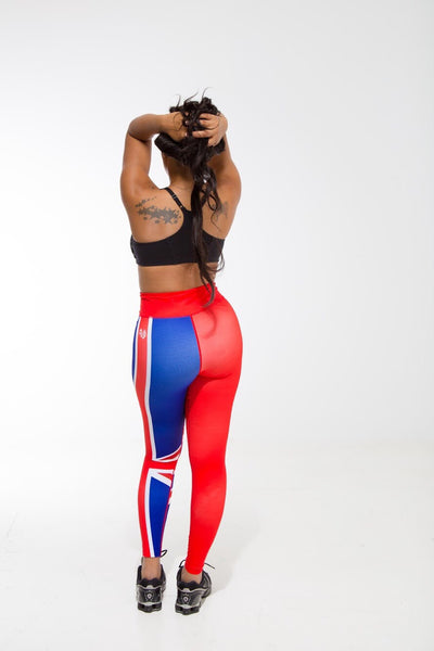 Bermuda Flag Print Leggings | Island Printed Leggings Caribbean Fashion