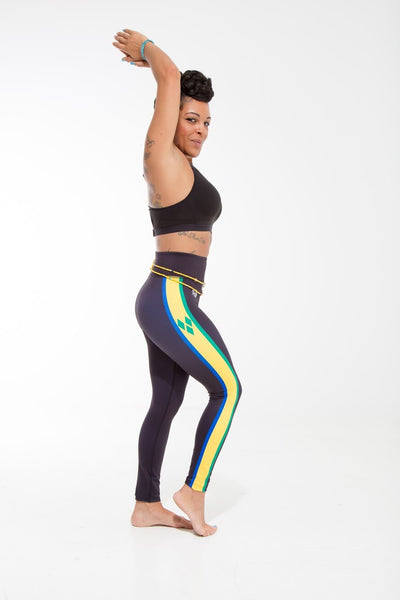 St. Vincent and the Grenadines Flag Print Leggings | Island Printed Leggings Caribbean Fashion