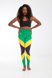 Jamaica Flag Printed Leggings | Island Printed Leggings Caribbean Clothing