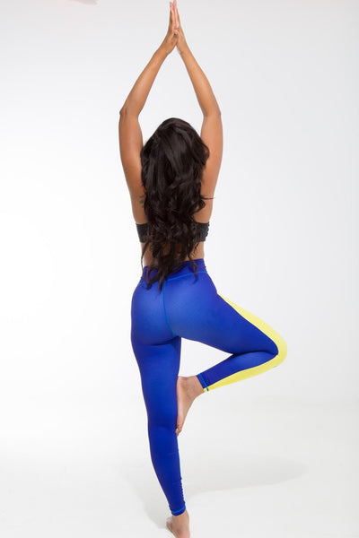Curaçao Flag Designer Leggings | Island Printed Leggings Caribbean Apparel