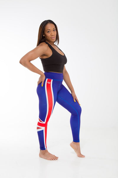 Montserrat Flag Print Leggings | Island Printed Leggings Caribbean Fashion