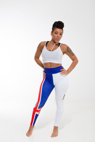 Cayman Islands Flag Printed Leggings | Island Printed Leggings Caribbean Clothing