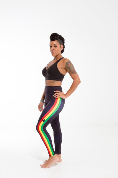 Ghana Flag Printed Leggings | Island Printed Leggings Caribbean Clothing