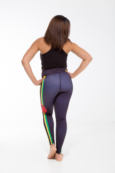 Dominica Flag Designer Leggings | Island Printed Leggings Caribbean Apparel