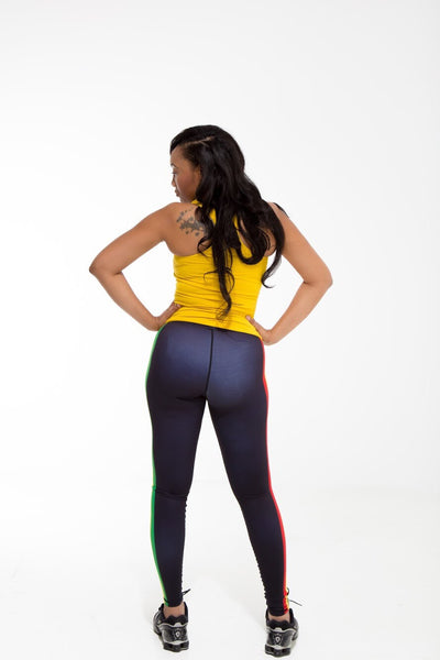 Ghana Flag Print Leggings | Island Printed Leggings Caribbean Fashion