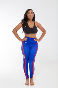 Belize Flag Printed Leggings | Island Printed Leggings Caribbean Clothing