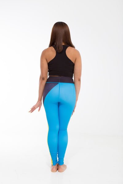 Bahamas Flag Designer Leggings | Island Printed Leggings Caribbean Apparel