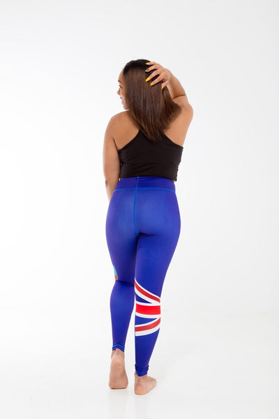 Montserrat Flag Designer Leggings | Island Printed Leggings Caribbean Apparel