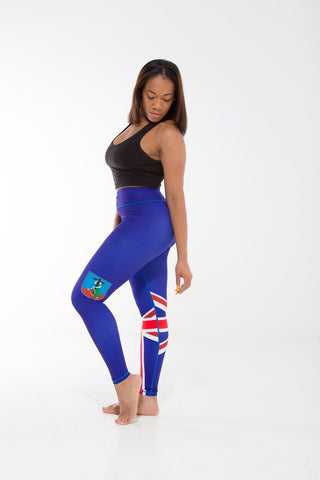 Montserrat Flag Printed Leggings | Island Printed Leggings Caribbean Clothing