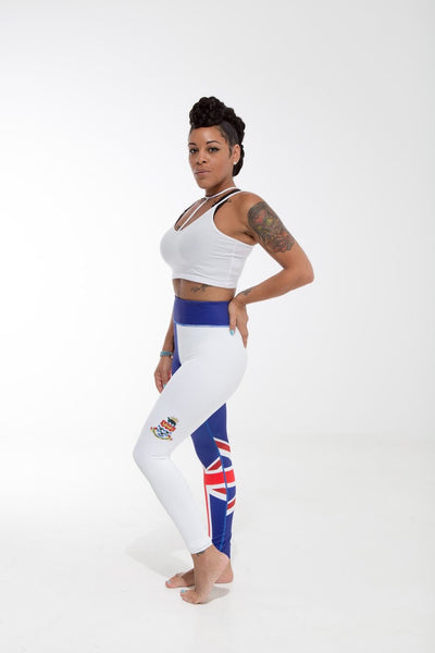 Cayman Islands Flag Patterned Leggings | Island Printed Leggings Caribbean Clothes