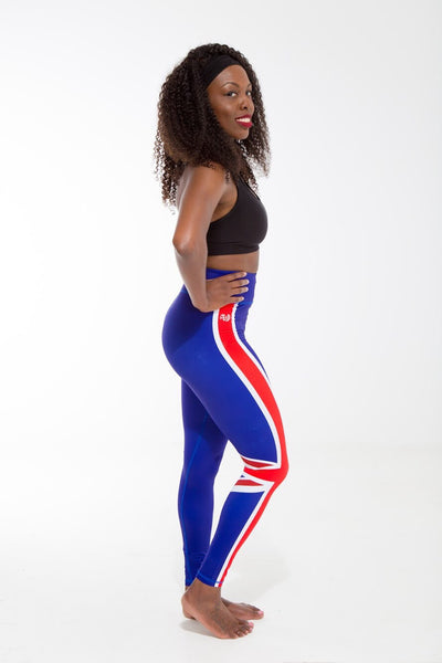 Anguilla Flag Patterned Leggings | Island Printed Leggings Caribbean Clothes