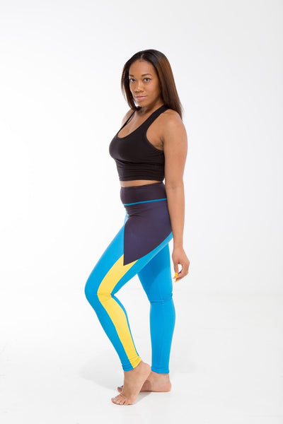 Bahamas Flag Printed Leggings | Island Printed Leggings Caribbean Clothing