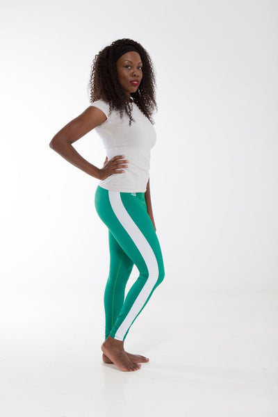 Nigeria Flag Print Leggings | Island Printed Leggings Caribbean Fashion