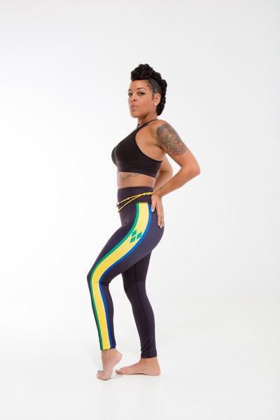 St. Vincent and the Grenadines Flag Patterned Leggings | Island Printed Leggings Caribbean Clothes