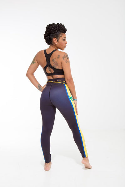 St. Vincent and the Grenadines Flag Designer Leggings | Island Printed Leggings Caribbean Apparel