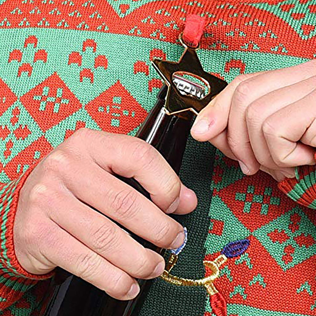 Bottle Opener Ugly Christmas Sweater